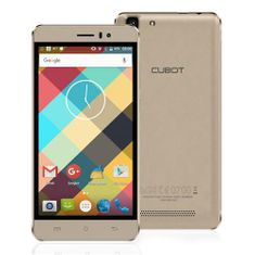 Cubot mobilni telefon Rainbow DualSim, zlatni + poklon: etui
