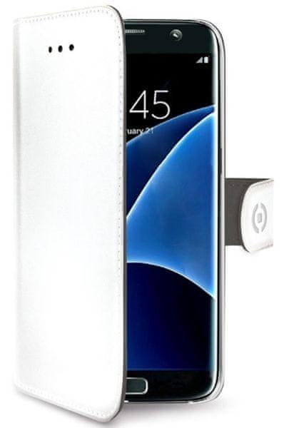 Celly Pouzdro Wally, Samsung Galaxy S7 Edge, bílá - II. jakost