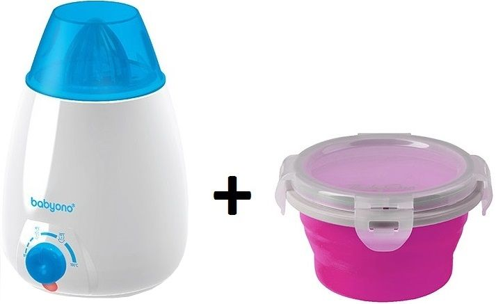 BabyOno Ohřívač lahví elektrický + DÁREK silikonová miska