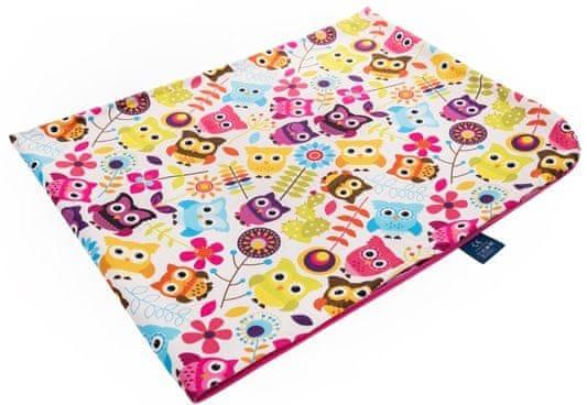 CuddlyZOO Dětská deka letní - sovy/růžová