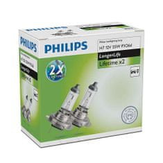 Philips žarnica 12V H7 55W ExtraLife, par