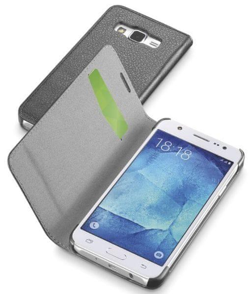 CellularLine pouzdro Book Essential, Samsung Galaxy J5, černá - II. jakost