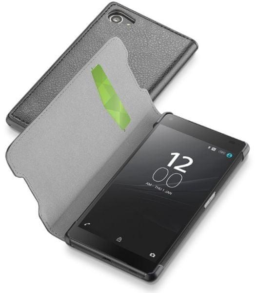 CellularLine pouzdro Book Essential, Sony Xperia Z5 Compact, černá