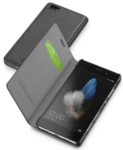 CellularLine pouzdro Book Essential, Huawei P8 Lite, černá