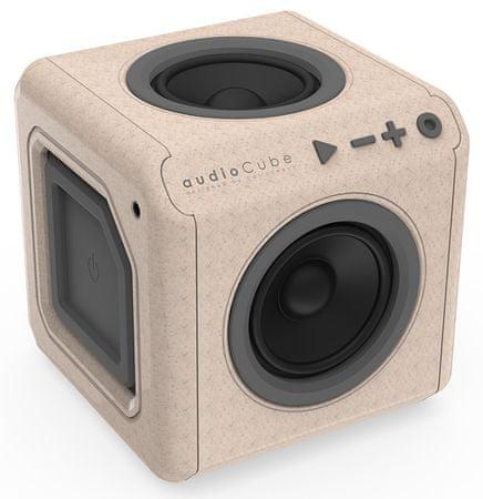 PowerCube głośnik przenośny audioCube Portable, brązowy/szary
