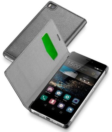 CellularLine Book Essential Huawei P8 Flip tok, Fekete