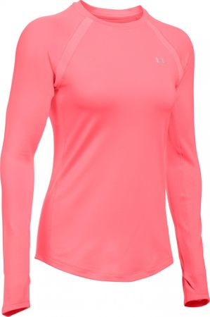 Under Armour ženska majica ColdGear Crew, roza, M