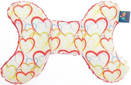 CuddlyZOO Detský stabilizačný vankúšik - srdce/červená