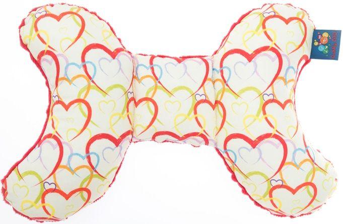 CuddlyZOO Dětský stabilizační polštářek - srdce/červená