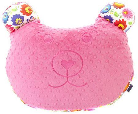 CuddlyZOO Multifunkční polštář Medvěd - květiny/růžová
