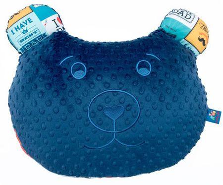 CuddlyZOO Multifunkčný vankúš Medveď- otec/modrá