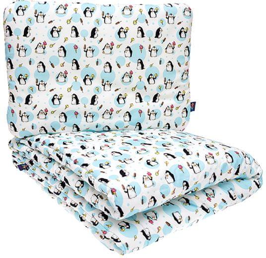 CuddlyZOO Souprava deka + polštář, vel. M - tučňák