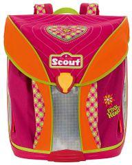 Scout Školský batoh Nano ružové srdiečko