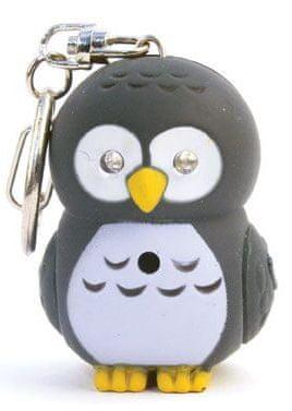 Kikkerland LED obesek za ključe sova