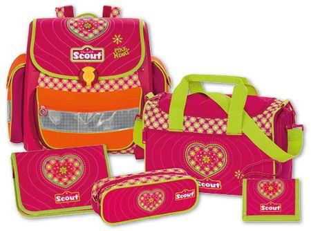 Scout Školský set Buddy 5-dielny ružové srdiečko