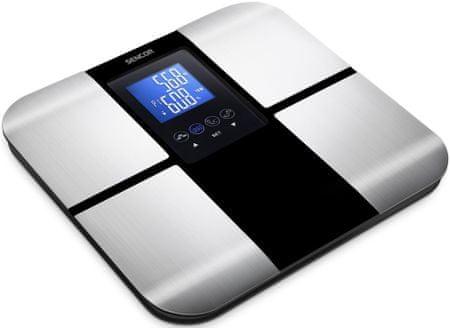 SENCOR SBS 6015 Fitness mérleg, Fekete-ezüst