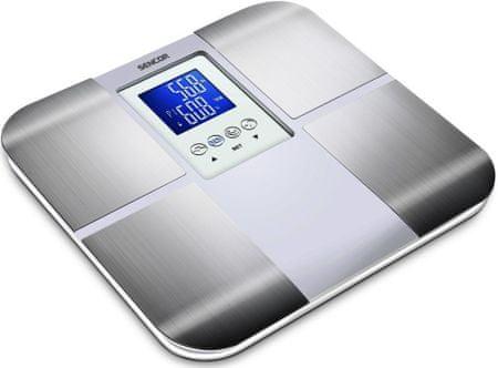 SENCOR SBS 6015 Fitness mérleg, Fehér-ezüst