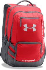 Under Armour Hustle Backpack II Red Graphite Silver
