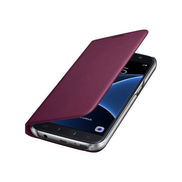 Samsung Wallet flip EF-WG930PX Galaxy S7, vínová