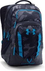 Under Armour Recruit Backpack Black Stealth Gray Brilliant Blue