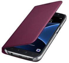 Samsung Wallet flip EF-WG935PX Galaxy S7e, vínová