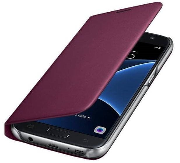 Samsung Wallet flip EF-WG935PX Galaxy S7e, vínová - II. jakost