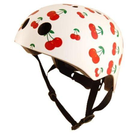 Kiddimoto otroška čelada Cherry, bela S