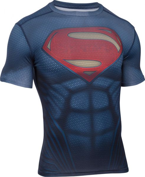 Under Armour Superman Suit SS Midnight Navy Red L