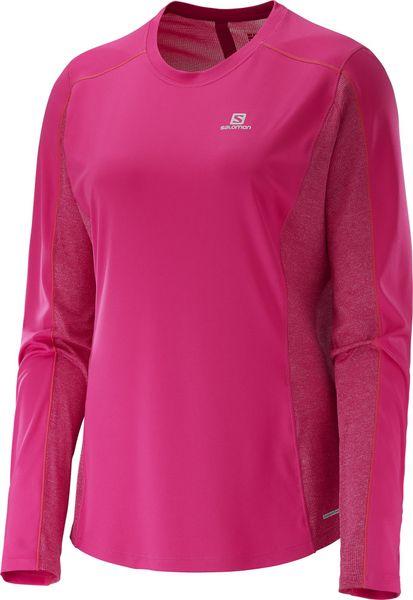 Salomon Agile Ls Tee W Yarrow Pink/Gaura Pink L