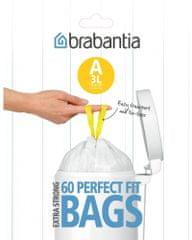 Brabantia Worki do kosza 3L (A), 60 sztuk
