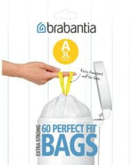 Brabantia Brabantia vrecká do koša 3 l (A), 60 ks