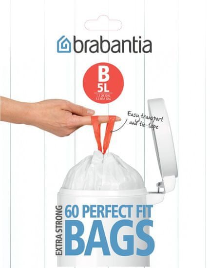 Brabantia Brabantia vrecká do koša 5 l (B), 60 ks