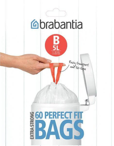 Brabantia Brabantia sáčky do koše 5 l (B), 60 ks