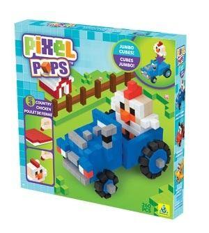 Orb Factory piščanec s traktorjem PixelPops