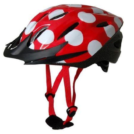 Kiddimoto otroška kolesarska čelada Red Dotty rdeča S