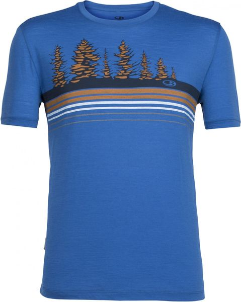 Icebreaker Mens Tech Lite SS Crewe Tree Line Pelorus/Bolt L
