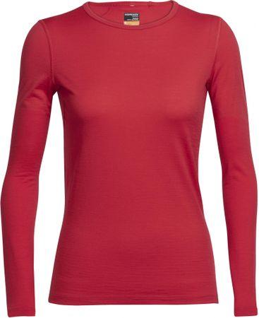 Icebreaker majica Oasis LS Crewe, rdeča, velikost L