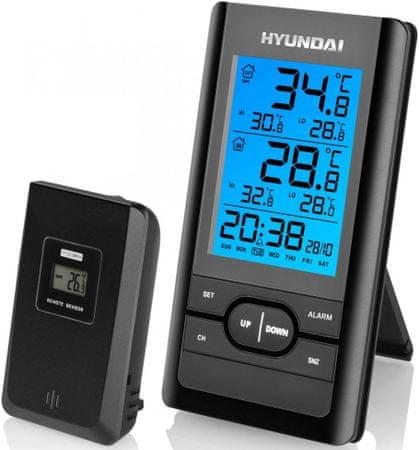 Hyundai vremenska postaja WS1070, črna