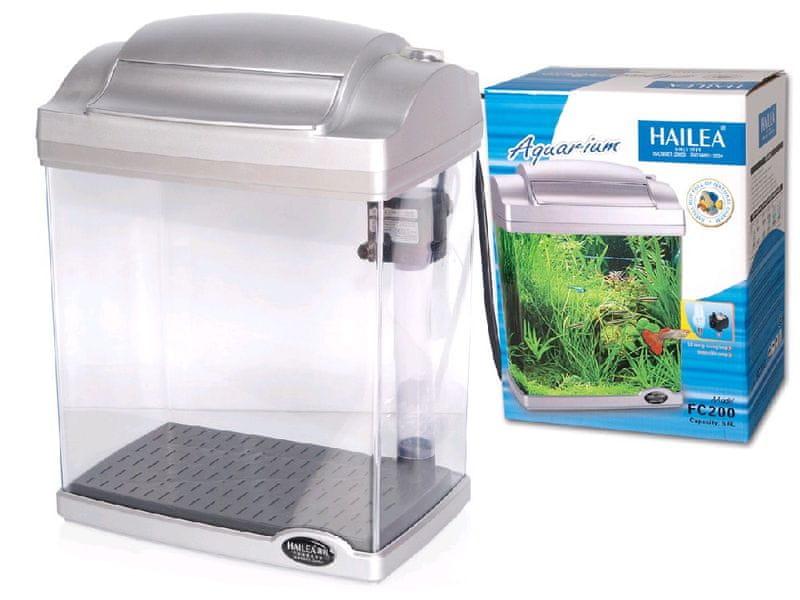 Hailea akvarijní set FC-200-2 stříbrný 6,6 l