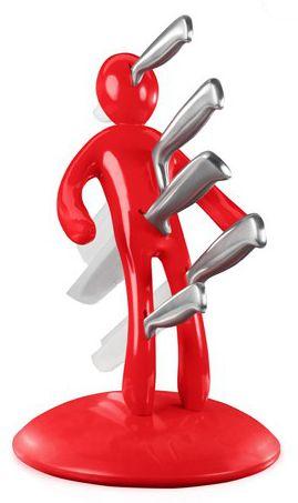 Vudú Knives Sada nožů v bloku červená