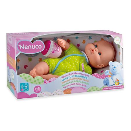 Famosa dojenček s stekleničko Nenuco, zelen