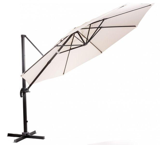 M-TREND Roma - boční slunečník 3,5 m, béžový