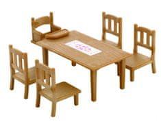 Sylvanian Families Zestaw do jadalni Stół z czterema krzesłami 2933