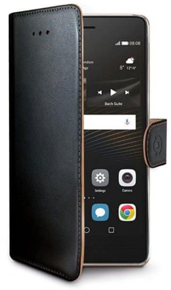 Celly pouzdro Wally, Huawei P9 Lite, černá