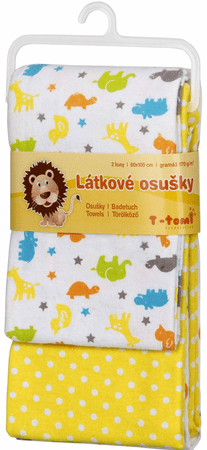 T-tomi tetra brisača, 2 kosa, rumena Afrika