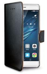 Celly pouzdro Wally, Huawei P9, černá