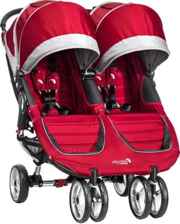 Baby Jogger City mini double, Crimson/Gray