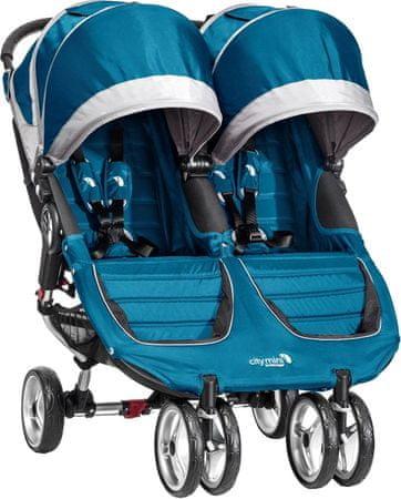 Baby Jogger City mini double, Teal/Gray