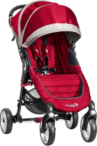 Baby Jogger City mini 4 kola 2016, Crimson/Gray