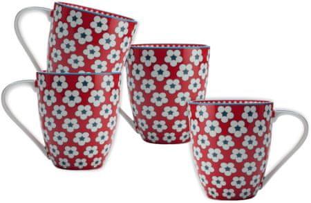 Maxwell & Williams skodelice Cotton Bud, 500 ml, rdeče, 4 kosi